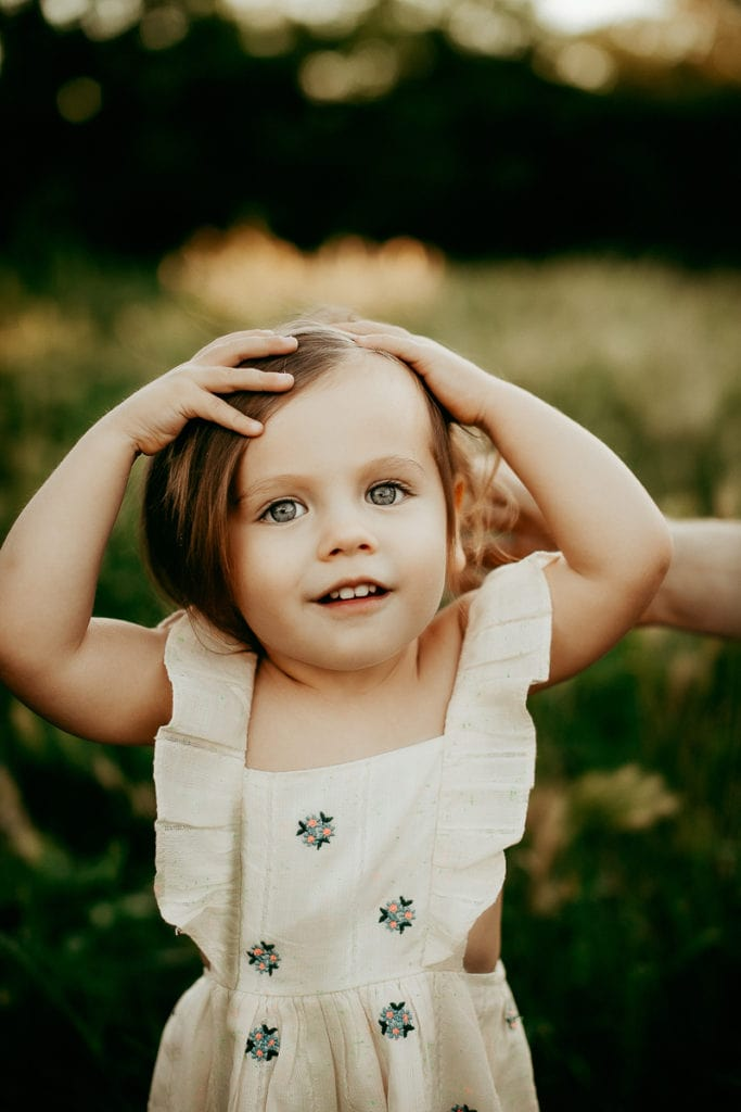 Washington State Family Photographer, little girl with floral dress
